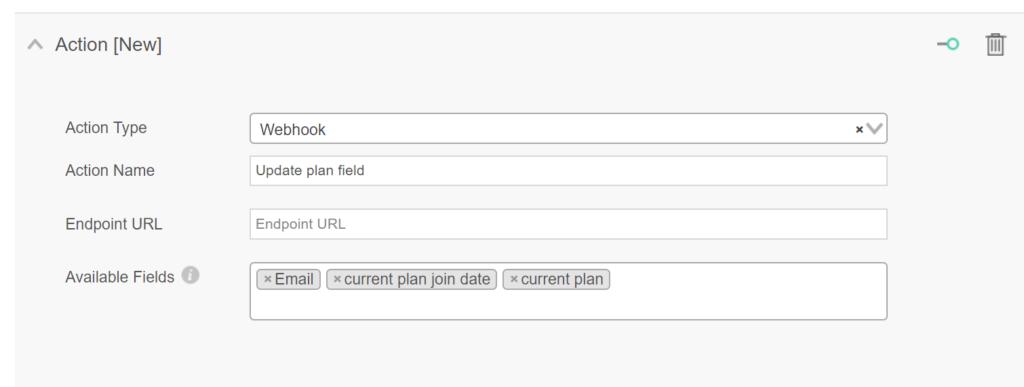 Use webhooks to update data automatically via Ongage automation rules