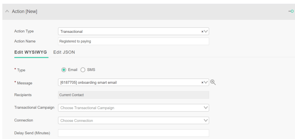 Sending transactional emails and SMS via Ongage automation rules