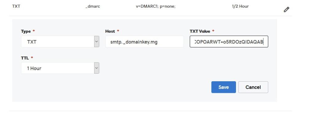 Adding DKIM to GoDaddy