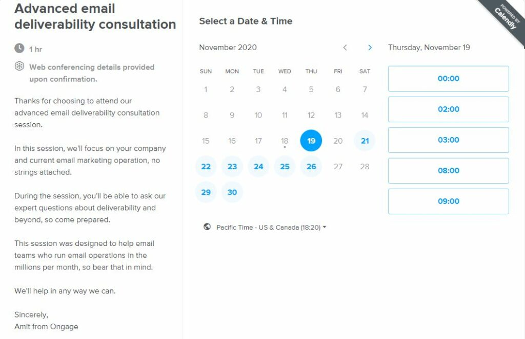 Provide value even before the sign-up form opens