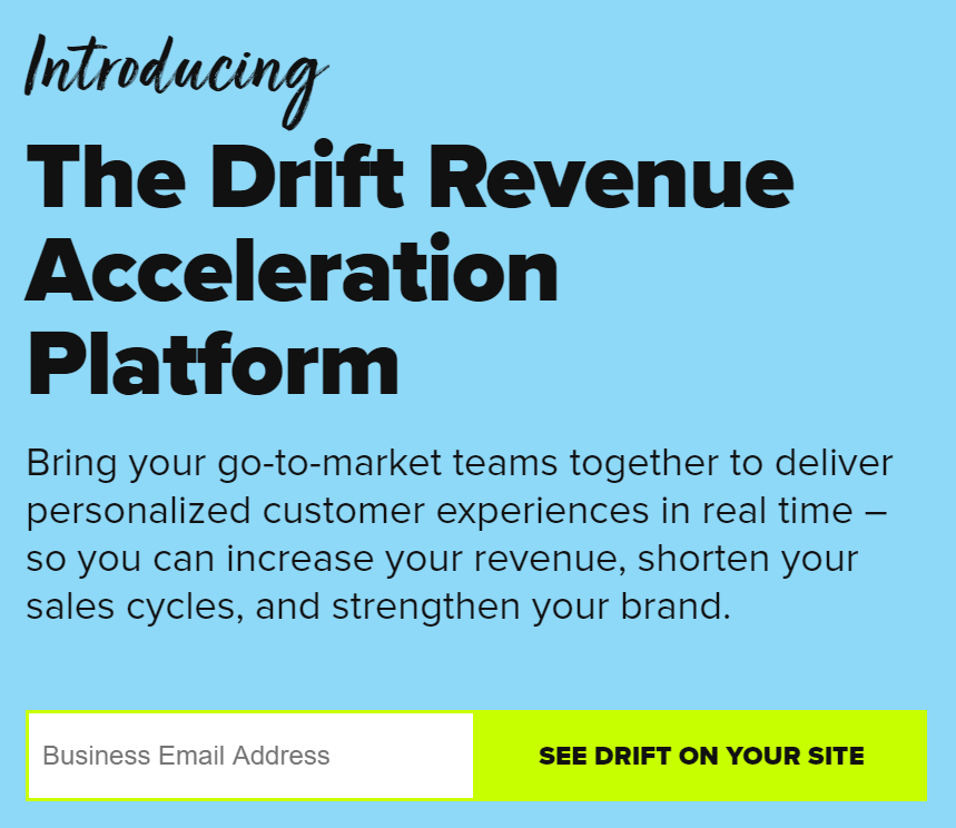 Get customers going with a single field in your sign up form