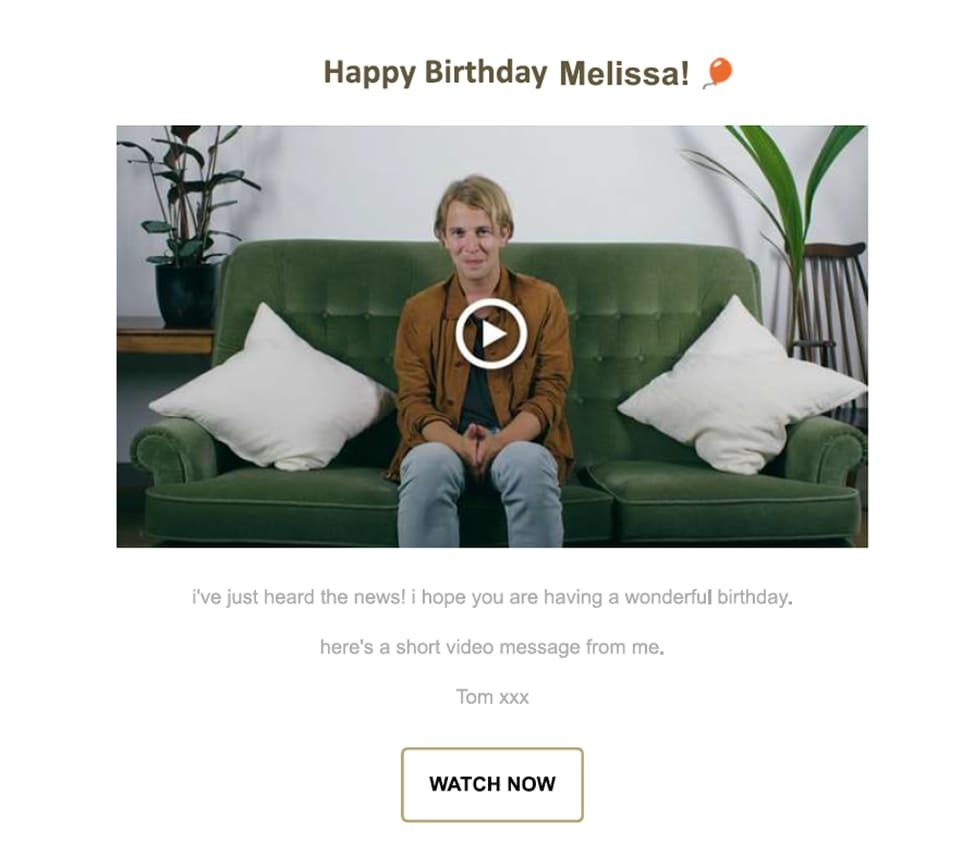 Send emails on birthday for a personalized touch