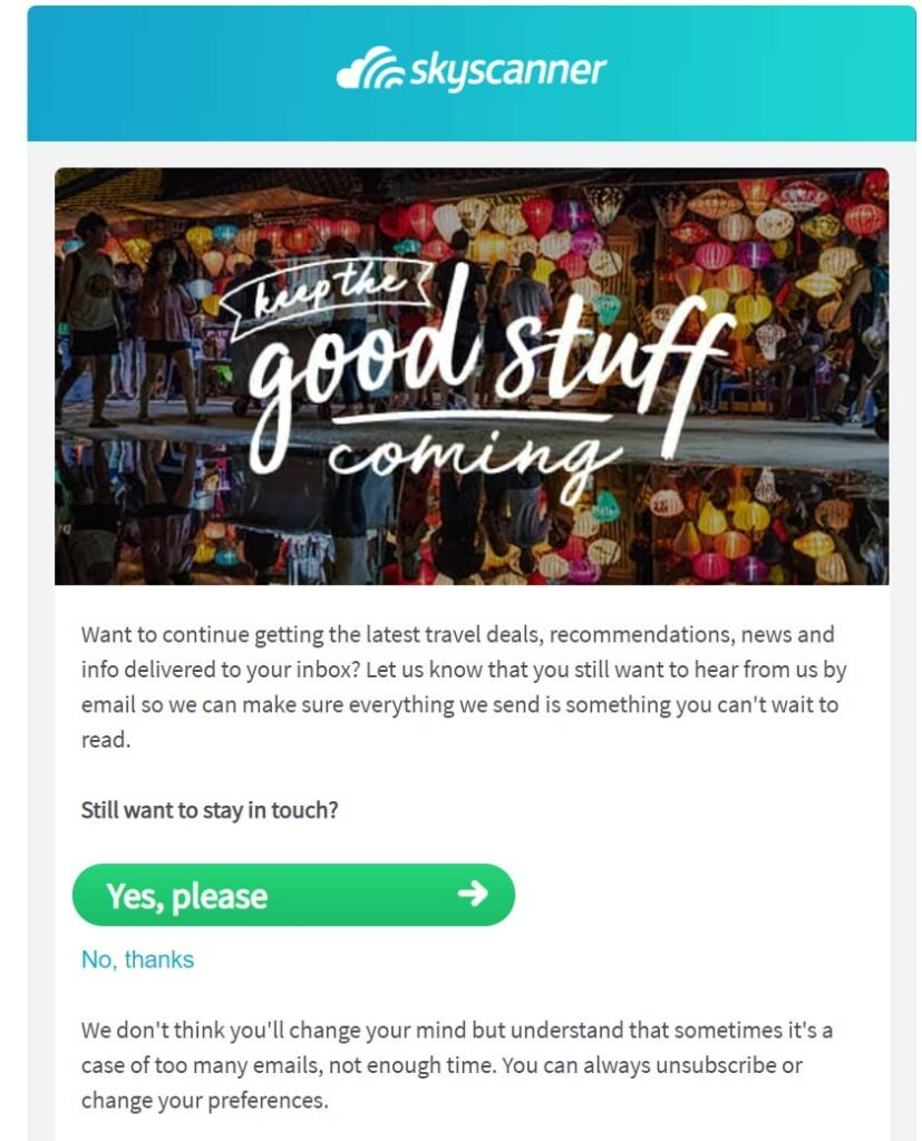 Email personalization is a great tool for re-engagement campaigns