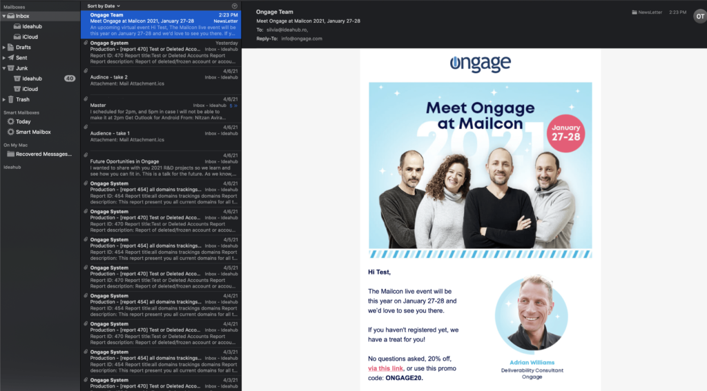 Keep dark mode in mind for better email deliverability