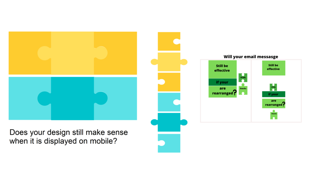 Email design changes when viewed on mobile, affecting engagement