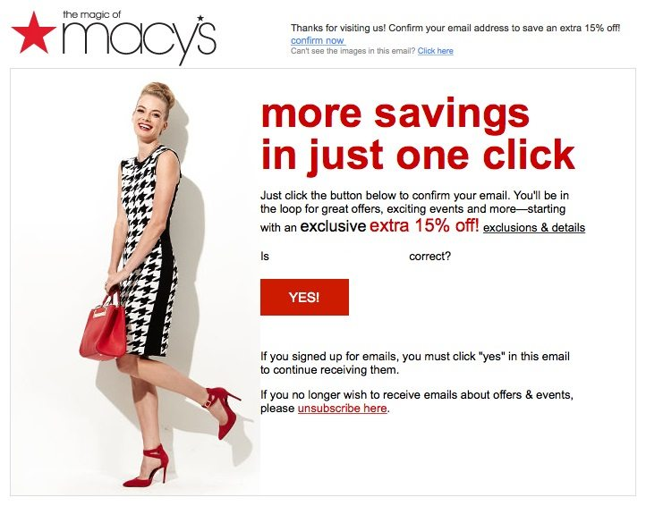 Confirmation emails are a common type of transactional emails