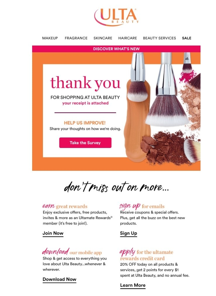 This is a transactional email, not a marketing email
