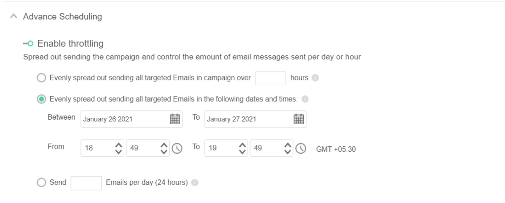 Throttle your emails to keet email bounce backs at bay