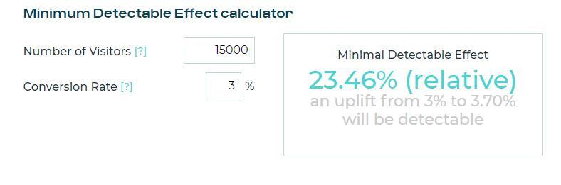 The minimum detectable effect will help you focus your A/B tests